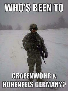 Trained at Graffenwoehr with the 41st Field Artillery Brigade, stationed in Babenhausen Germany!