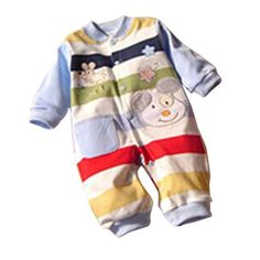 Baby Girl & Boy Cartoon Pattern Rompers