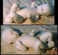 tutorial on making a baby with Creative Paperclay.  Ellen Harris