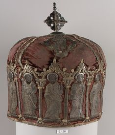 Armenia, Miter for a Priest, velvet, silver and gold, 17th c
