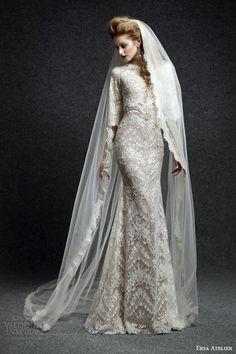 #wedding dress lace high neck half sleeves sheath #sheathweddingdress #weddings #weddingdress #bridal