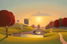 Riverside Evenings - by Paul Corfield