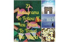 21 Instagrams To Follow If You Want To Travel The World #travel #instagram