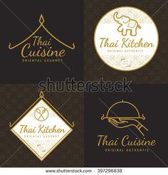 thai restaurant logo flat vector design - Google Search