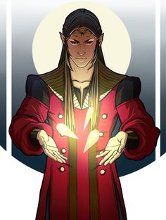 Fëanor and the silmarils. Difficult to imagine the possible size of the silmarils, given that one ends up being a star but it still fits on a necklace… But that's an eternal question in Tolkien's books, the sizes/heights of everything/everyone. :|