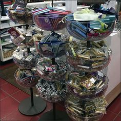 Acrylic Bowl Bulk-Bin Tower Triplets Retail Fixtures, Store Fixtures, Service Counter, Bin Store, Happy Hanukkah, Store Signs, Pier 1 Imports, Triplets, Independence Day