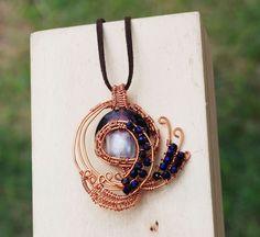 Beautiful Purple Peacock Swing Dancing Wire Wrap Purple Glass Crystals Necklace #Jeanninehandmade #Pendant