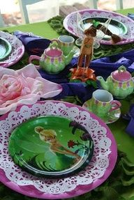 Tinkerbell Party place setting.