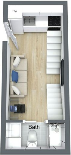 Casa container com 2 camas loft