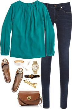 classic look with jeans