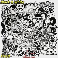 New 150 PCS Black And White Sticker Car Styling Bike Luggage JDM Doodle Cool Vinyl Decals Laptop Toy Home Decor DIY Stickers    / //  Price: $US $7.03 & FREE Shipping // /    Buy Now >>>https://www.mrtodaydeal.com/products/new-150-pcs-black-and-white-sticker-car-styling-bike-luggage-jdm-doodle-cool-vinyl-decals-laptop-toy-home-decor-diy-stickers/    #MrTodayDeal.com