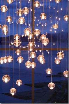 Bubble Chandelier   I Bet I Could Make These Using The Glass Ball Idea  Since I Know How To Wire A Pendant Lamp  Many Little Lamps On One Circuit.
