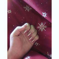 😍 #gelnails #rosegold #gel #nails #rose #gold #christmas #winter