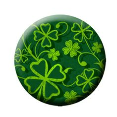 """Clover (Magnetic) Design insert that fits into 1""""Magnabilities interchangeable jewelry."""