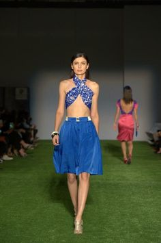 The Dossia outfit   blue • bold • striking   LDFH SS17 - shop now: http://www.lilikadesigns.com/store/p376/THE_DOSSIA_TOP.html #fashionicon #bold #blue #newzealand #auckland #fashion #kiwidesigns #designer #fashiondesigner #runway #catwalk #FWLA #grassrunway #ss17 #skirt #croptop