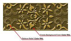 www.elrincondearte.com  cenefa vinilo color. Esta cenefa pertenece a la colección de cenefas nazarí de la marca Andaluciart