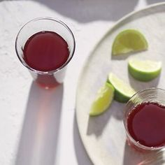 Hibiscus Tea with Lime