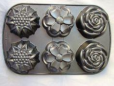 Nordic Ware Baking Cake Pan 6 Cup Flowers Garden Rose Daisy Sun Flower 14X9 | eBay