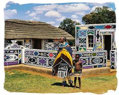 Color, collage, and much more: Plaster house sculpture in the style of Ndebele Painted Houses (South Africa)