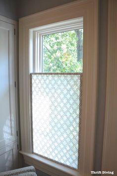 Merveilleux DC Design House Privacy Screen For Bathroom Window. You Could Make It  Horizontally Too And Not As Wide As The Window, Put It On A Track Instead  Of A Blind.