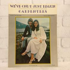 We've Only Just Begun Piano Vocal Sheet Music 1970 The Carpenters