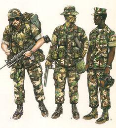 1.- Grenadier ,Lebanon,1983. 2.- Recon. Marine ,FMF-Atlantic,Camp Leujene,1983. 3.- Armored Vehicle Crewman,1983.