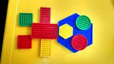 Blogue do Jardim Escola Carrocel: Blocos Lógicos Petite Section, Sensory Bins, Fine Motor Skills, Best Part Of Me, Fun, Geometric Form, Garden, Games, Projects