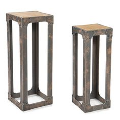 Urbane Plant Stands Set/2 now featured on Fab.