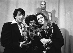 Sylvester Stallone con Eletha Finch e Faye Dunaway