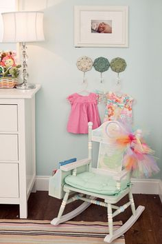 Cute way to display adorable little dresses