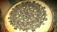 Mandala - wood burned