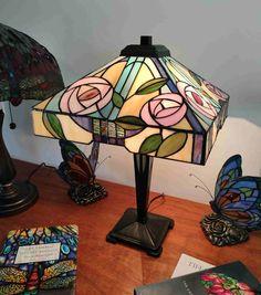 Lampada da Tavolo Tiffany con Fiori 303