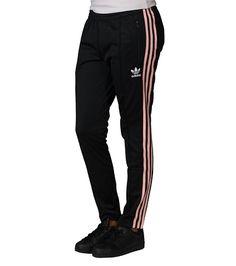 adidas WOMENS 3 STRIPE PANT Black