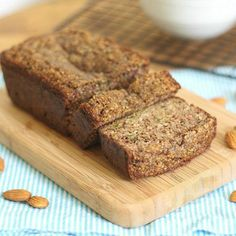 This paleo almond zucchini bread is slightly crunchy on the outside and super moist on the inside. It's the perfect way to use up summer zucchini.