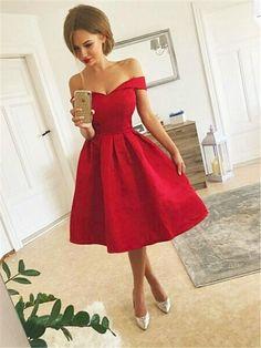 Short Red Prom Dresses, Red Homecoming Dresses, Trendy Dresses, Elegant Dresses, Sexy Dresses, Nice Dresses, Short Prom, Dress Long, Dress Formal