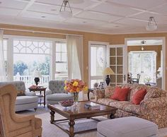 love the molding on the ceiling, not sure it would work on vaulted ceiling...
