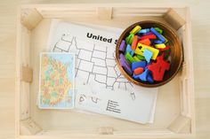 Montessori Geography Trays - Set up the tray with the Appalatian Mountains Us Geography, Geography Lessons, Montessori Activities, Science Activities, Space Theme, Small Cards, Toddler Preschool, Educational Toys, Trays