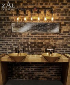 cool idea- Vanity Lamp Beer bottles Plumbing pipe & fittings by ZALcreations Man cave bathroom lighting! Rustic Bathroom Lighting, Rustic Bathroom Vanities, Bathroom Light Fixtures, Rustic Lighting, Bathroom Vanity Lighting, Industrial Lighting, Lighting Ideas, Small Bathroom, String Lighting