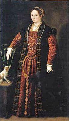 1567 Portrait of a Lady by Domenico Riccio wearing zibellino