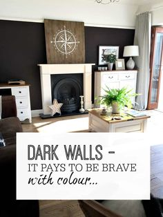 Dark Walls It Pays To Be Brave With Colour When Using Them Dark Walls For Painting Interior Design Inspiration Examples Of How Dark Colours Work Really Well For Decor Using Deep Colours In A Room Home Style Home Design Interior Design Inspiration, Home Decor Inspiration, Home Interior Design, Interior Styling, Interior Decorating, Decorating Tips, Decor Ideas, Colour Inspiration, Painting Inspiration