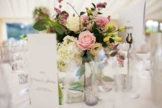 Real marquees: elegant, bright wedding reception marquee near High Wycombe, Buckinghmashire Marquee Hire, Table Names, Floral Centerpieces, James Bond, Wedding Reception, Tent, Glass Vase, Guy, Table Decorations