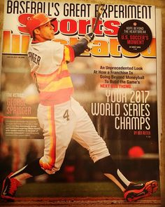 Got the best Christmas gift! The original @sportsillustrated @georgespringer 2014 cover where the @astrosbaseball were predicted to be 2017 World Series Champs! @mlb @si_benreiter #EarnedHistory #Astros #Springer #MVP #HoustonStrong #MLB