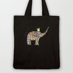 .elefante. Tote Bag on Society6! $22 FREE WORLDWIDE SHIPPING thru Sunday (10/28).