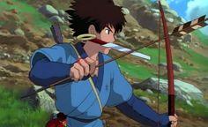 Princess Mononoke Cosplay Prop -- Ashitaka Bow and Arrow Version 01 Studio Ghibli Art, Studio Ghibli Movies, Hayao Miyazaki, Princess Mononoke Cosplay, Mononoke Anime, Japanese Mythology, Fanart, She Wolf, Doll Repaint