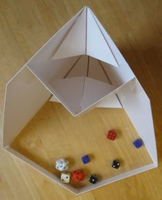 origami dice tower