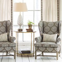 Lacefield Fabric Wingback Chairs