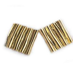 Ruche Earrings - 18kt yellow gold | Larissa Landinez to wear on your wedding day