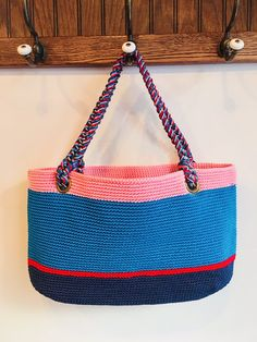 Elliot Mann's Flags Mini is entirely hand made. Featuring a crocheted body with a covered chain handles. Your next functional comfort item. Width x Length Handles, Flags, Straw Bag, Chain, Mini, Handmade, Accessories, Hand Made, Necklaces, National Flag