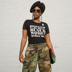 black panther inspired look black history month black culture outfit Black Girl T Shirts, Black History T Shirts, Black Panthers Movement, Culture Shirt, Fit Black Women, Branded Shirts, Black Girl Fashion, T Shirt And Jeans, Cool Outfits