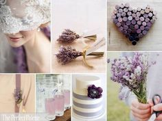 The Perfect Palette: {Lavender + Lace}: A Palette of Lavender, Antique Gold + White    Personally I would add silver instead of gold!